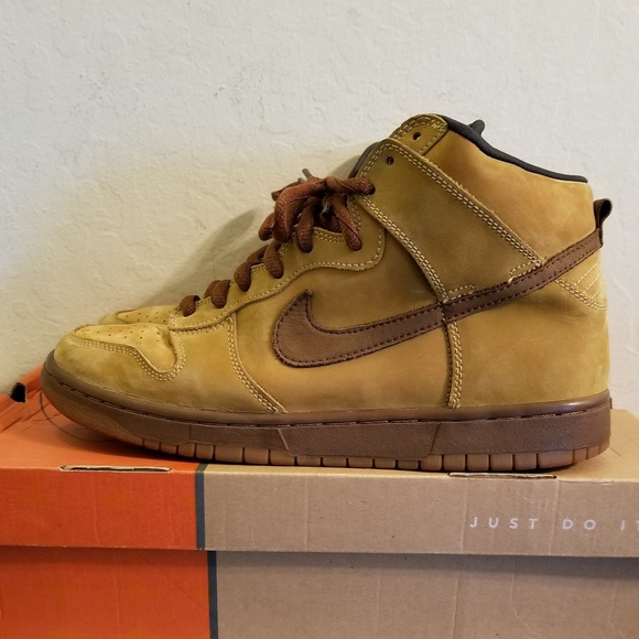 3418b7ba ... reduced nike dunk high pro sb wheat maple 6ecc1 0dd57